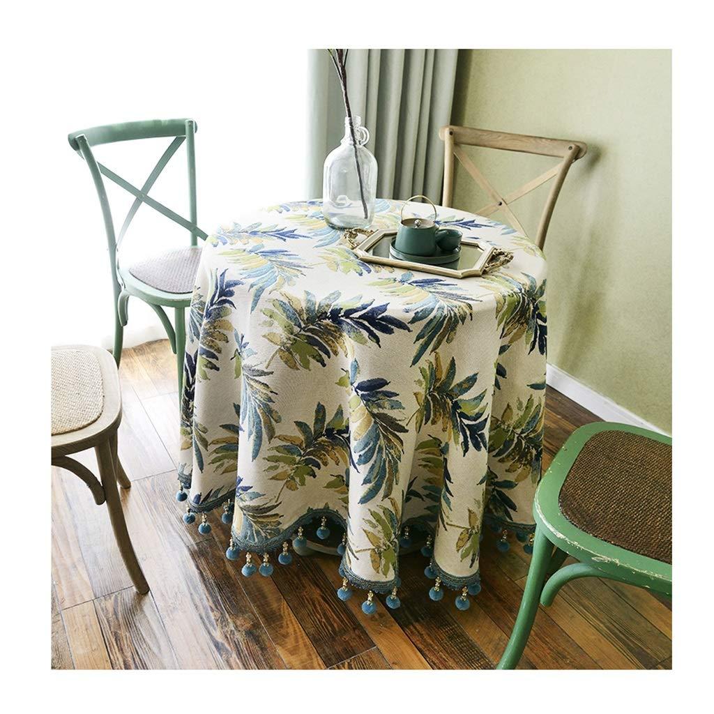 ラウンドテーブルクロス ラウンドテーブルクロス小さな新鮮な綿とリネン現代茶テーブルクロス家庭用レストランテーブルカバー豪華な装飾テーブルクロス テーブルクロス (サイズ さいず : Round-240cm) Round-240cm  B07RXVVBGZ