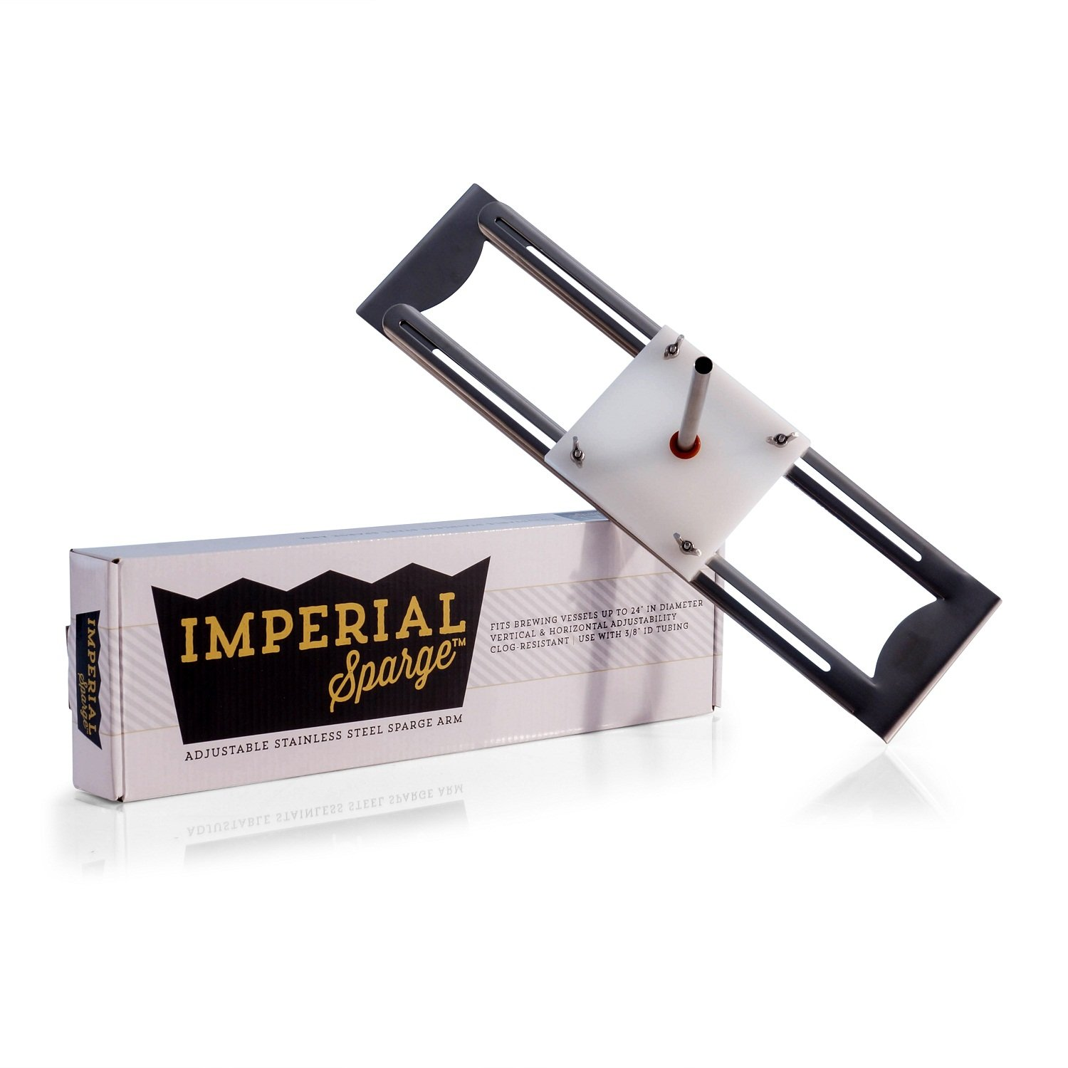 Imperial Sparge Stainless Steel Arm - Adjustable Width For All Grain Home Brewing On Any Mash Tun