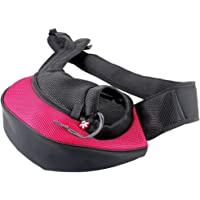 Eyiou Portable Travel Pet Carrier, Soft Sided Tote Carrier for Small Pets, Dog Handbag Dog Purse for Outdoor Travel Walking Hiking (S, Rose Red)