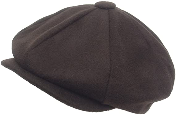 5f96c18a Made in USA 8/4 Apple Jack Cap 100% Wool Newsboy Hat Gatsby Cabbie at Amazon  Men's Clothing store: