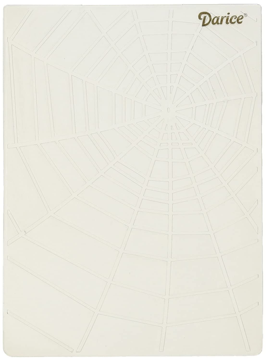 Darice Embossing Folder - Template Spider Web - 10.8 x 14.6 cm, Transparent 1219-215