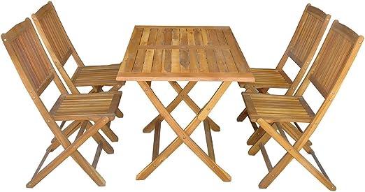 SSITG Salon de jardin en 5 pièces Set de balcon Table de ...