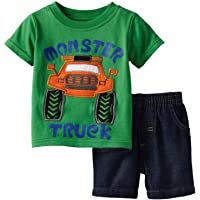 Toddler Boy Cotton Summer Short Sleeve T-Shirt and Shorts Outfit Set