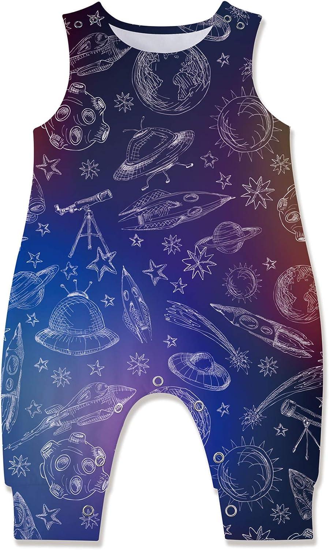 Kids4ever Baby Boy Girl Romper Summer Sleeveless Animal Print Jumpsuit for 3-24 Months