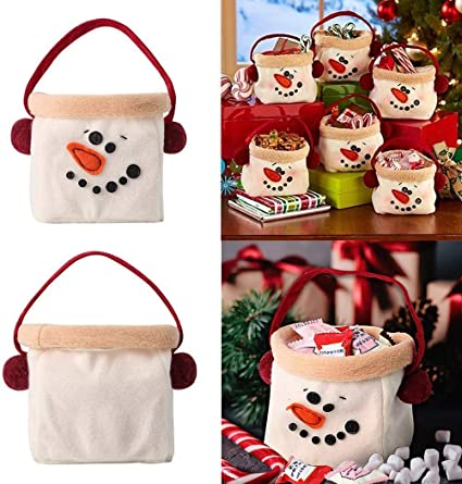 Amazon Com Wenirn Christmas Candy Bags Gift Treat Bags For Favors