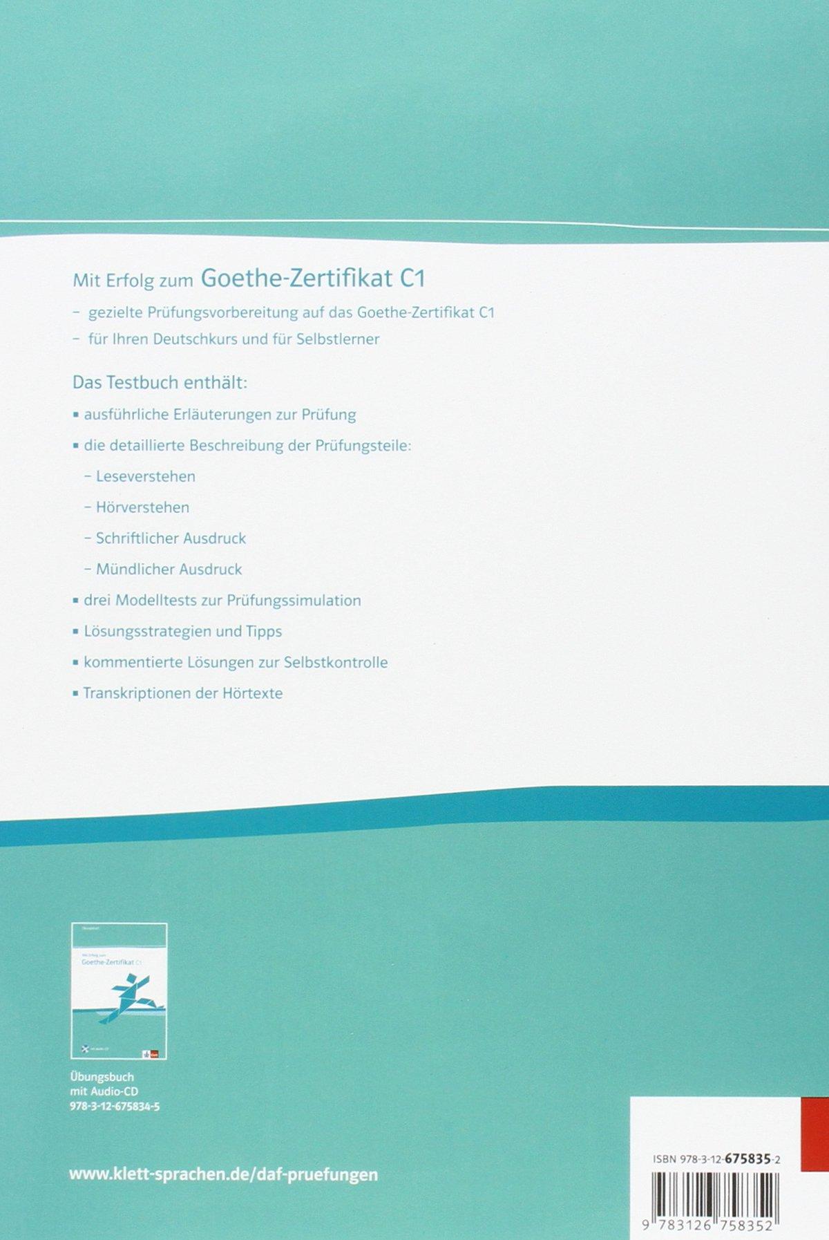 Mit Erfolg Zum Goethe Zertifikat Testbuch C1 German Edition