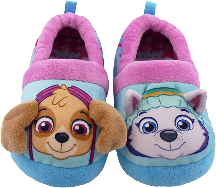 2T-3T 3T-4T #69 Aqua Toddler Girls/' PAW Patrol Top Up Pup Pals Slippers