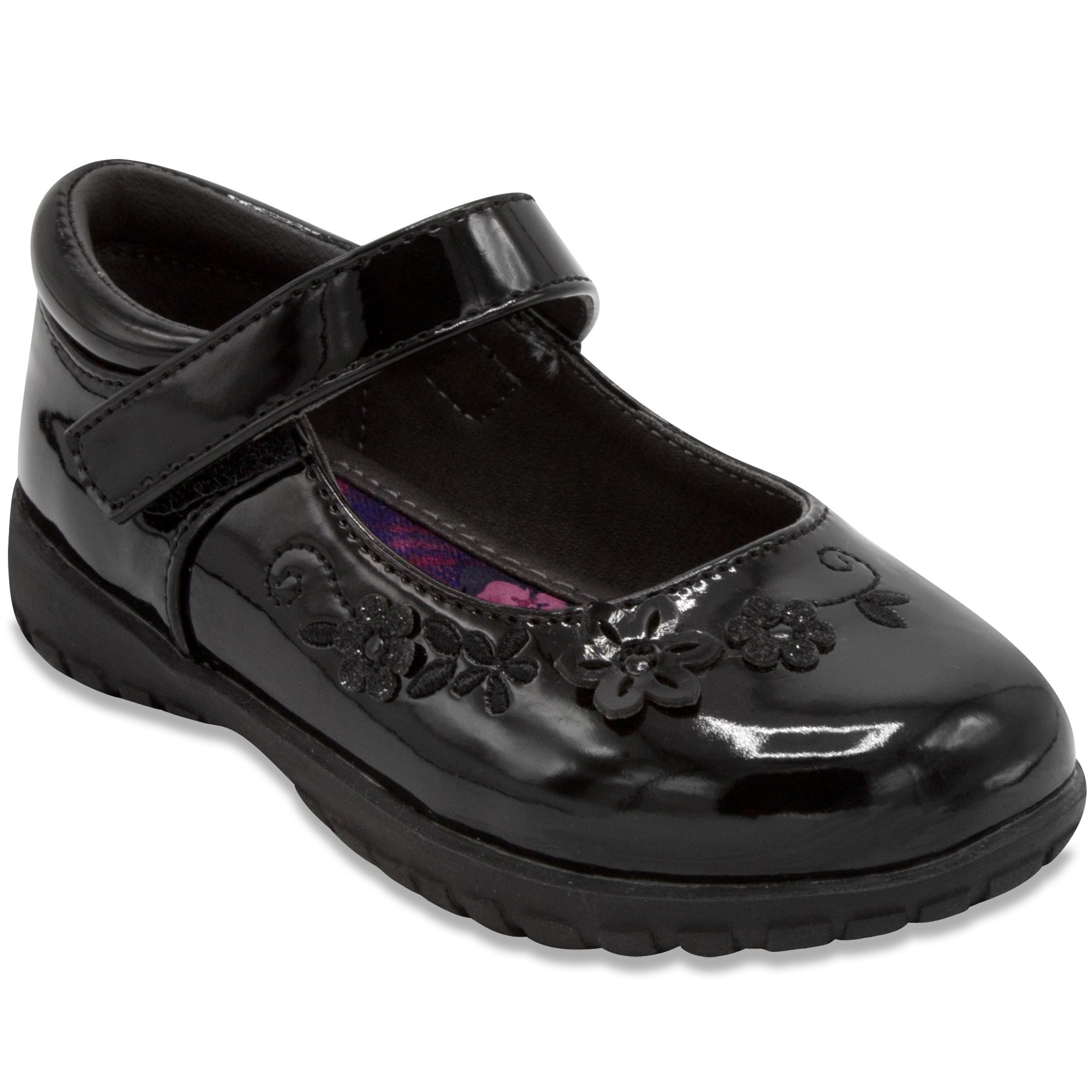 French Toast Girls Ginger Flat Mary Jane Oxford School Uniform Shoe 6 Black Patent