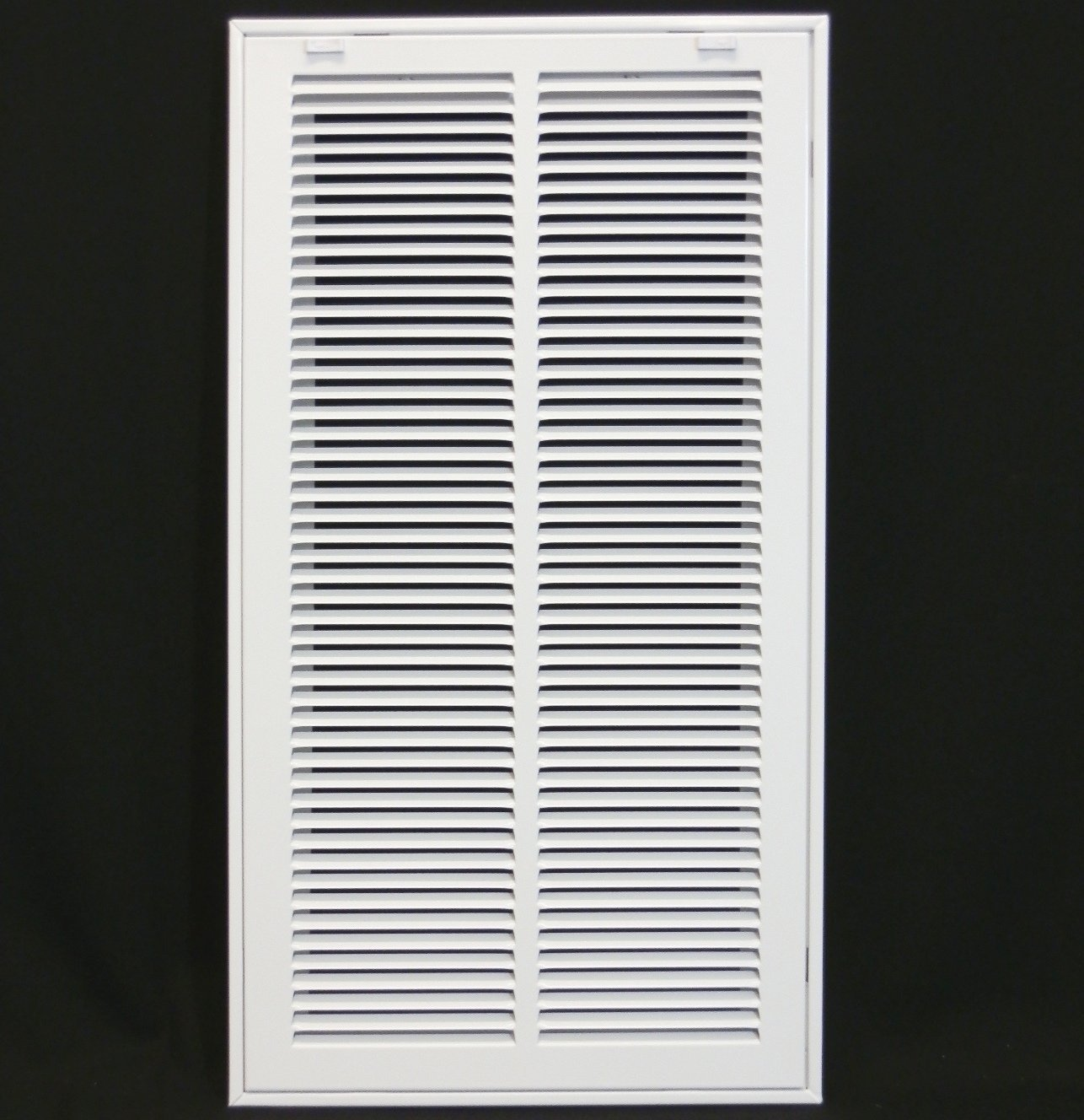 12'' X 24 Steel Return Air Filter Grille for 1'' Filter - Removable Face/Door - HVAC DUCT COVER - Flat Stamped Face - White [Outer Dimensions: 14.5''w X 26.5''h]