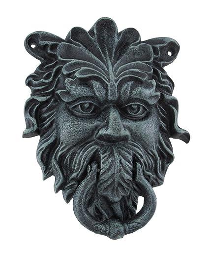 Cast Iron Door Knockers Verdigris Finish Cast Iron Celtic Greenman Door  Knocker 7 X 9 X