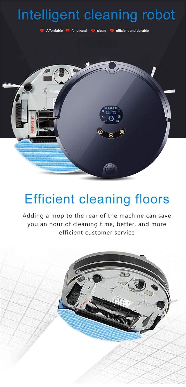 E-KIA Aspiradora Robot De Limpieza,Smart Robot Cleaner, Controles De AplicacióN, Autocarga, para Pisos De Superficie Dura Y Alfombras Delgadas,Rose-Gold: ...