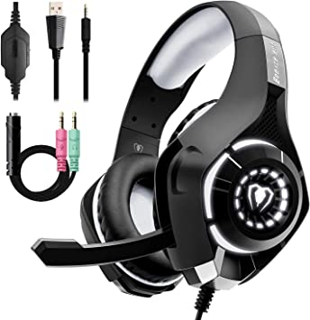 Beexcellent Auriculares Gaming,IKOCO GM-2 Gaming Headset con micrófono para PS4 / Xbox One/PC/Laptop/Celular/PC con un Divisor Y Libre (Azul): Amazon.es: Electrónica