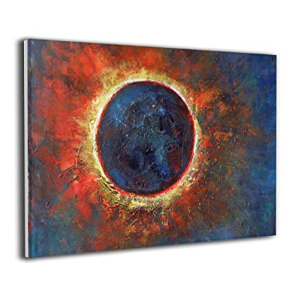 Amazon Com Lqz Paint Sun Moon Canvas Painting Home Decor Frameless