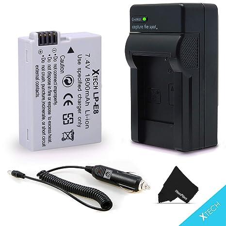 Lcd Dual Ladegerät Für Canon Eos 550d 600d 650d 700d X4 X5 X6i X7i T2i T3i Unterhaltungselektronik 2 Pcs 1800 Mah Lp-e8 Lpe8 Lp E8 Batterie Batterie Akku Batterien