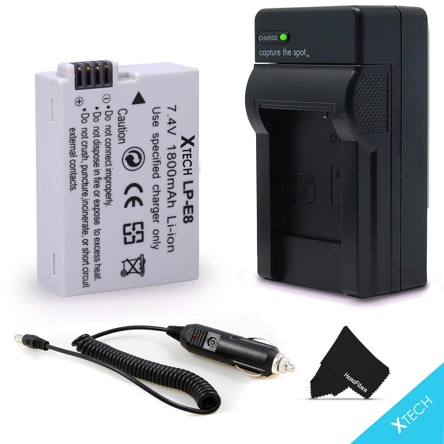 High Capacity LP-E8/LPE8 Battery and Battery Charger for Canon EOS Rebel T2i T3i T4i T5i EOS 550D 600D 650D 700D Kiss X4 X 5 X6 DSLR Cameras