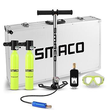 Amazon com : SMACO Two Mini Scuba Tank Diving Equipment
