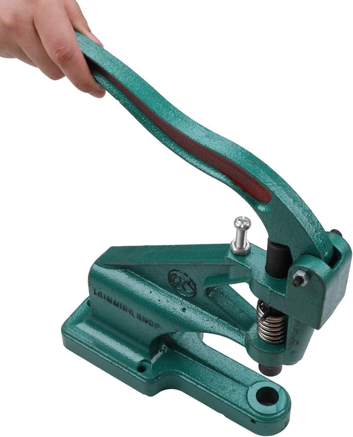 Tela Artes y Manualidades Trabajo 5mm Negro Trimming Shop 4mm Agujero Cortador Golpeador Set Plantillas Herramienta para Universal Prensa de Mano Verde M/áquina para Cuero