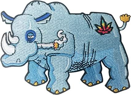 Pot Smoking Pals Happy Stoned Rhinoceros White Winter Scarf