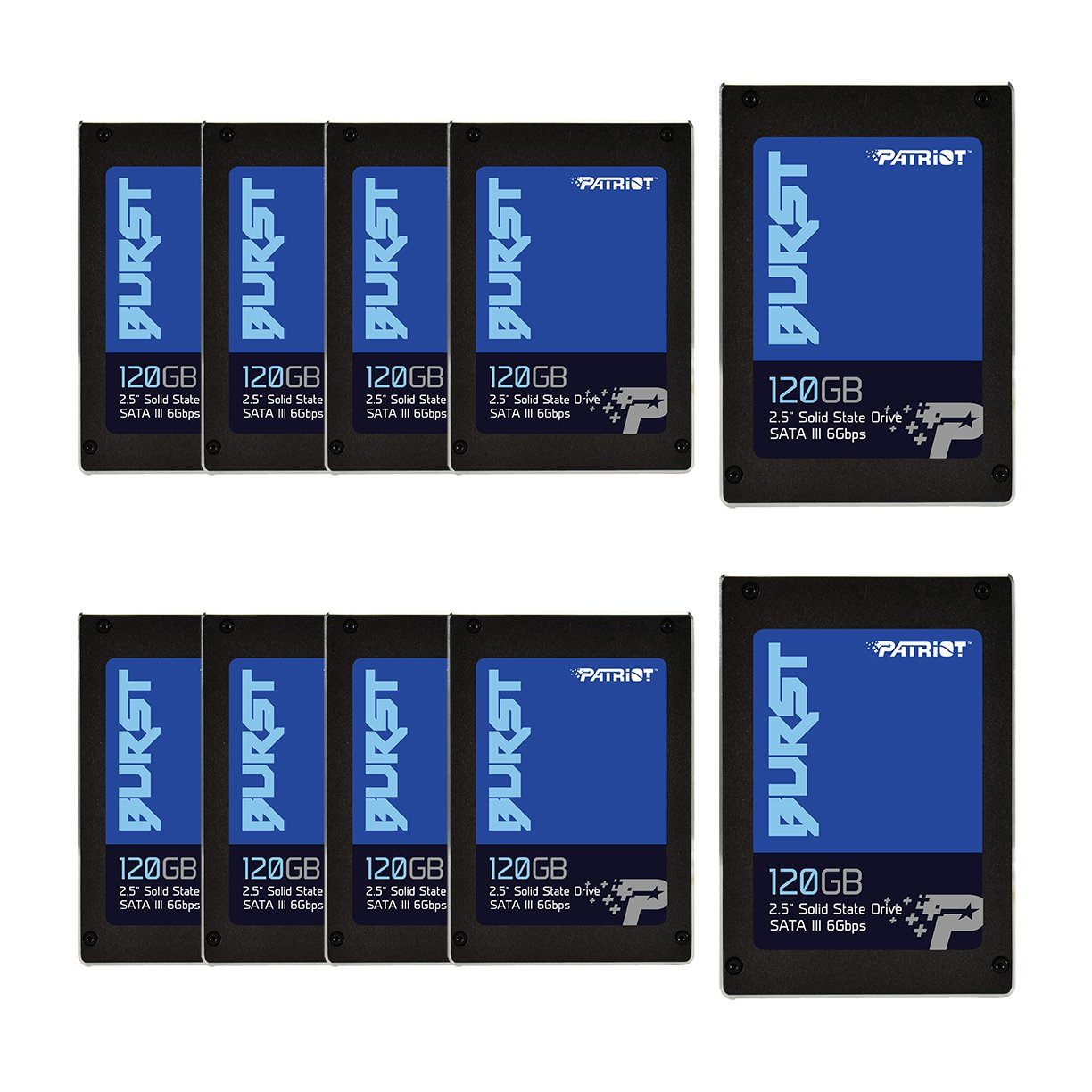 Patriot Memory Burst SSD 120GB SATA III Internal Solid State Drive 2.5'' - Retail Package 10 Unit Pack