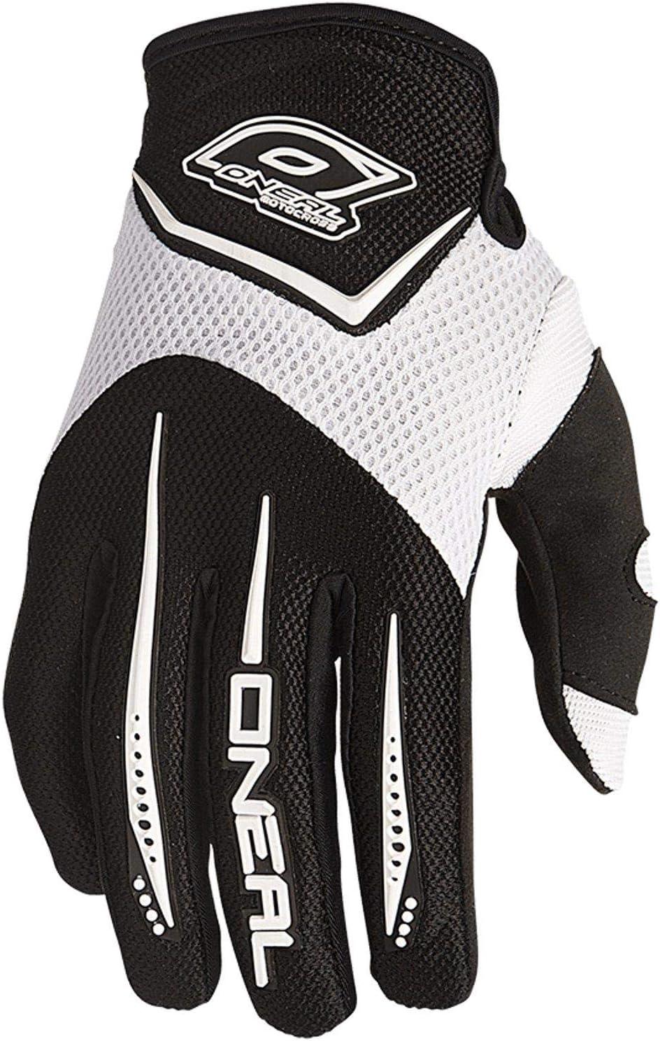 0399-2 ONeal Elemento MX DH Guanti Bianco Motocross Downhill Cross Moto Guanti
