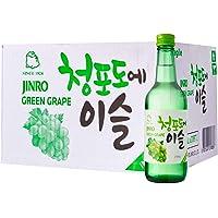 Jinro Soju Green Grape Spirit 20 Bottles Case, Green Grape, 7200ml