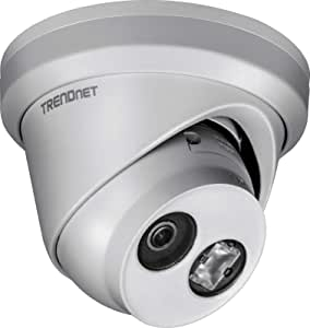 TRENDnet Indoor/Outdoor 4MP H.265 Wdr PoE IR Fixed Turret Network Camera, IP67 Weather Rated Housing, IR Night Vision Up to 30m (98 ft.), 120dB Wide Dynamic Range, TV-IP323PI