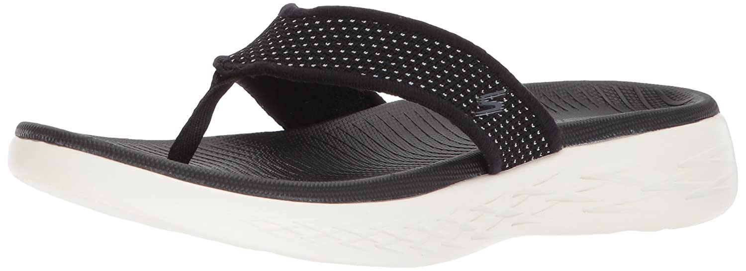Skechers Damen on The Go 600 Sandalen  39 EU|Schwarz (Black/White)