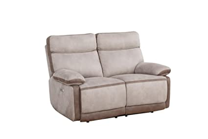Fantastic Amazon Com Homelegance Barilotto 58 Power Double Reclining Inzonedesignstudio Interior Chair Design Inzonedesignstudiocom