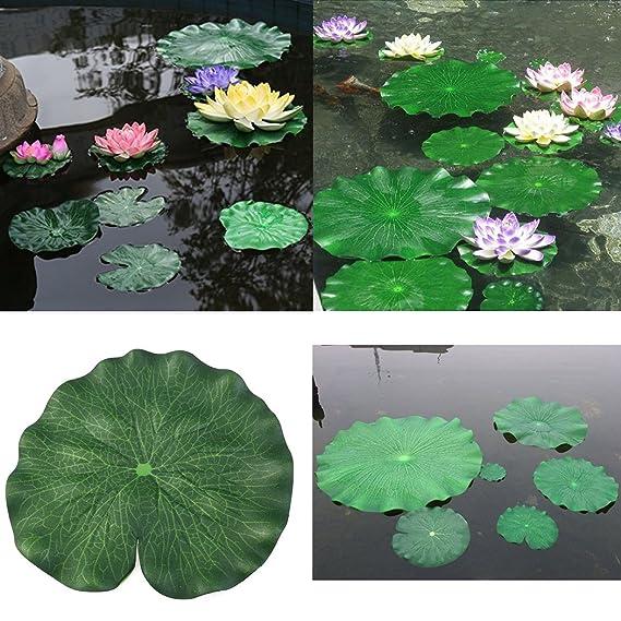 Legendog 20PCS Plantes DAquarium Plante Artificielle Flottant Mousse Lotus Feuilles Feuilles FéEriques Pour Fish Tank Decor Plantes et Fleurs pour Bassin Décoration d'extérieur