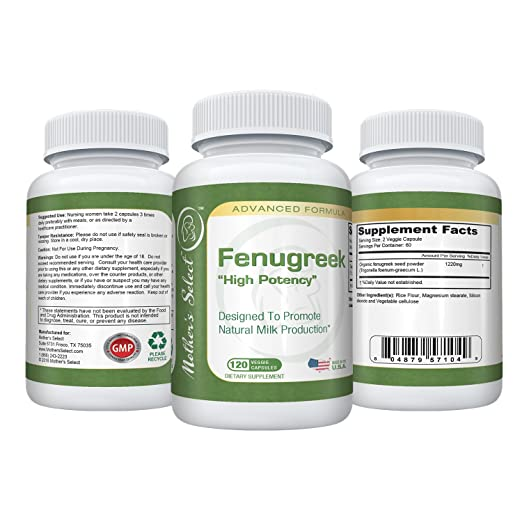Fenugreek Capsules For Increased Breast Milk Supply During Breastfeeding
