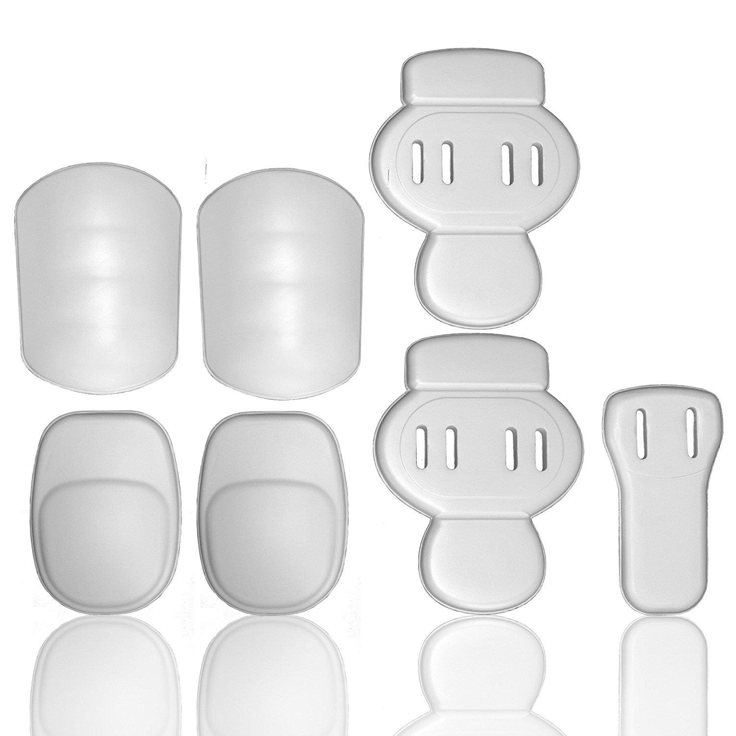 Full Force American Football 7Piece Padset Talla Senior, color blanco, One size Full Force Wear