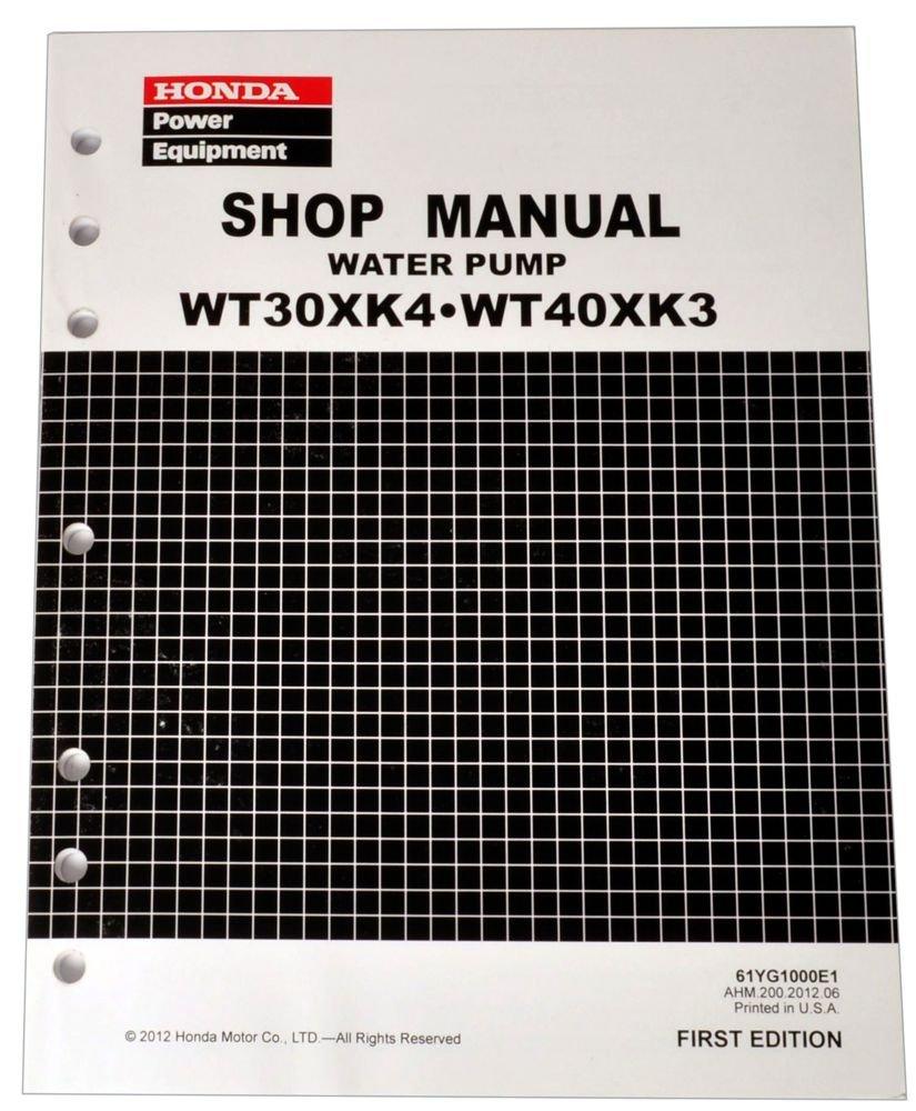 Honda WT30 WT40 WT30X WT40X Water Pump Service Repair Shop Manual