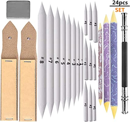 Stumps /& More Charcoal 20 Piece Artist Drawing /& Sketching Set with Pencils