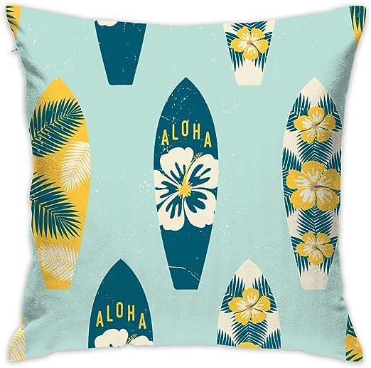 shizh Aloha Tablas de Surf Funda de Almohada Decorativa ...