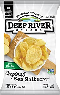product image for Deep River Snacks 50% Reduced Fat Kettle Cooked Potato Chips, 1.5-Ounce (Pack of 24)