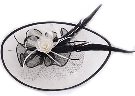 2270008c6c2 Large Headband Aliceband Hat Fascinator Weddings Party Quality Ladies Day  Race Royal CWHA001 (CWHA001-