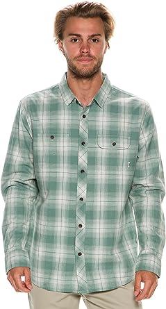Reef - Camisa Casual - para Hombre Azul Verde Oscuro S: Amazon.es: Ropa y accesorios