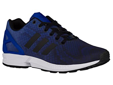 on sale 53f88 bc514 ... greece mens adidas zx flux classic sneakers new blue black aq6606 9.5 m  14cd6 ff313