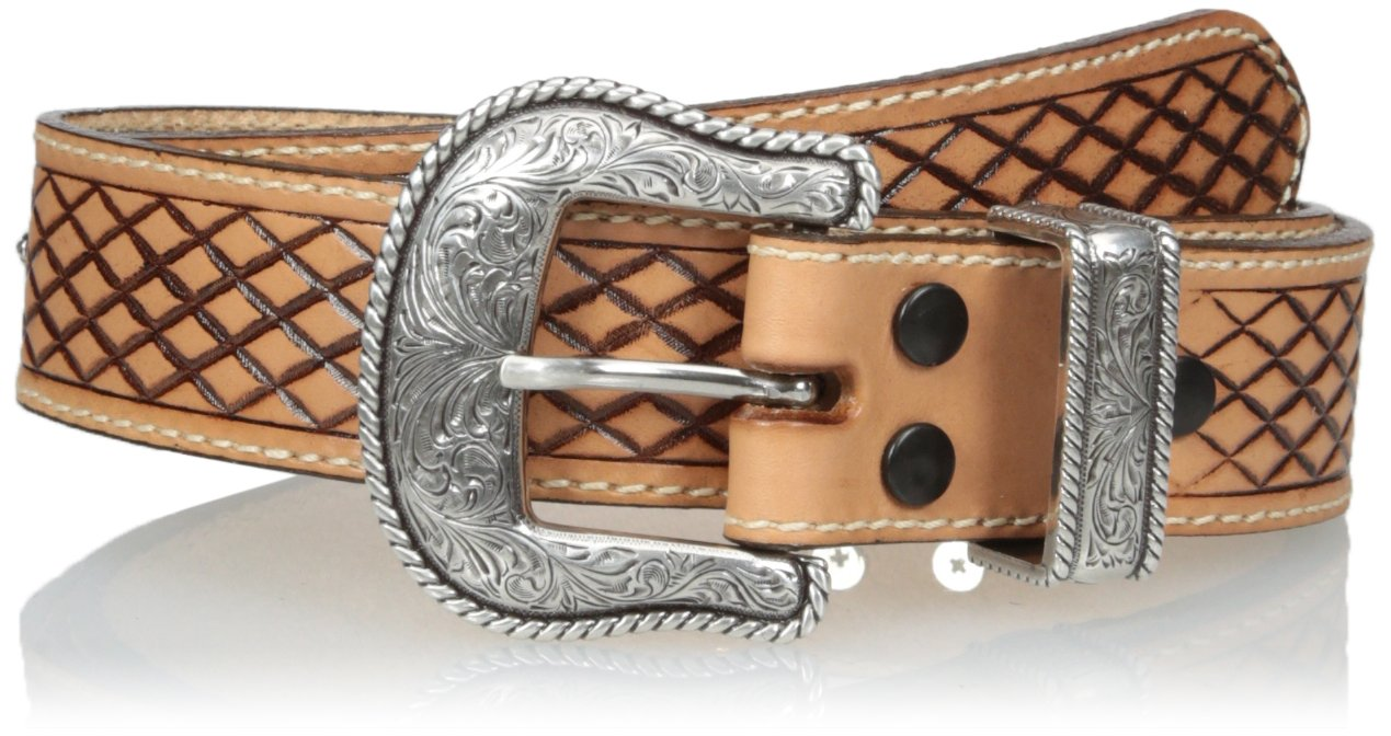Nocona Men's Fortworth USA Natural Belt, Brown, 34