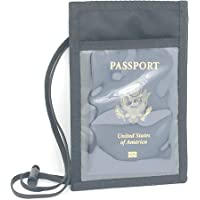 RFID - Passport, Wallet, Cell-Phone Neck ID Holder - USA Made - 31LUZ-RFID