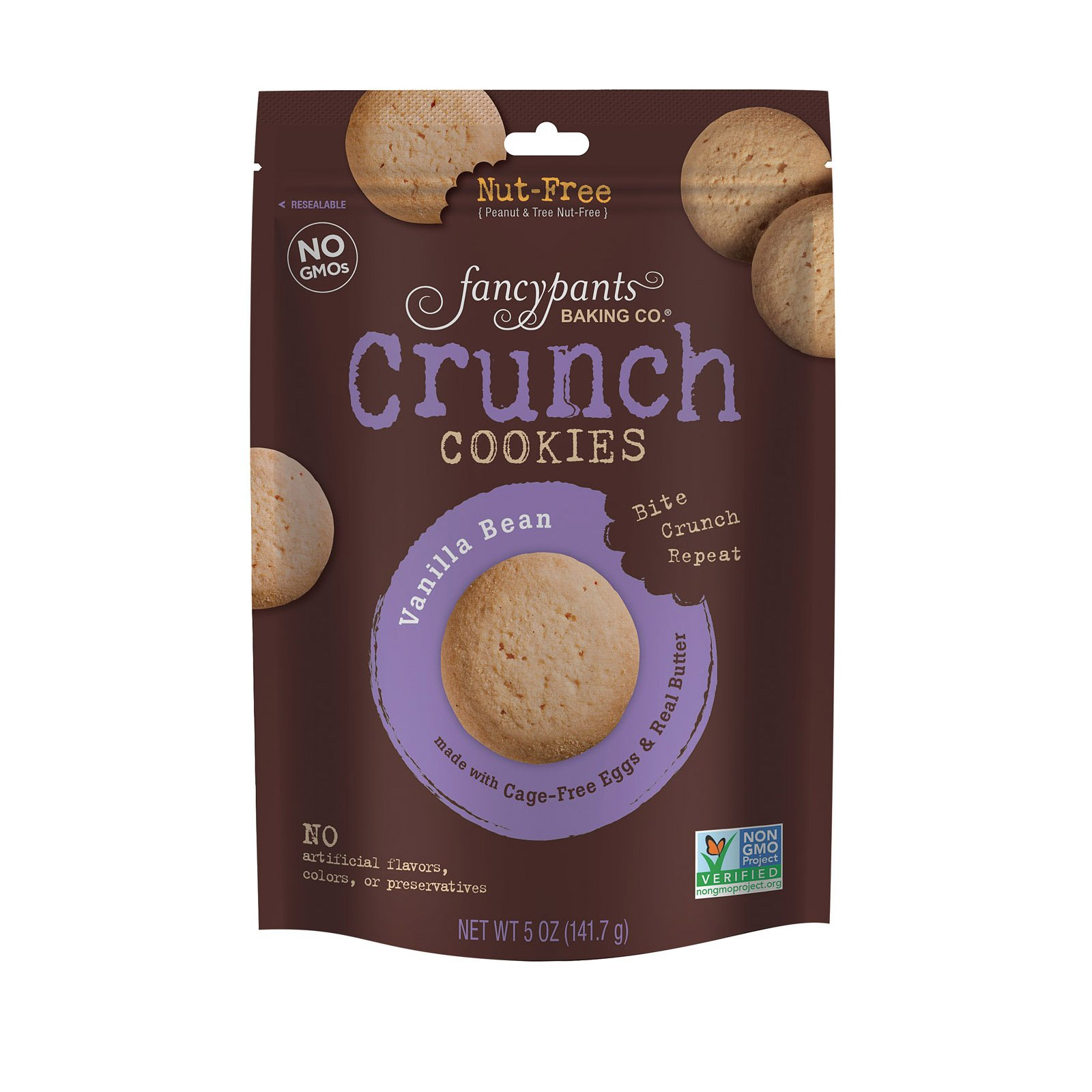 Fancypants Crunch Cookies - Vanilla Bean - Case of 6-5 oz. by Fancy Pants