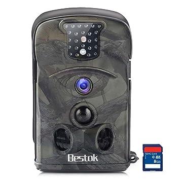 Bestok Cámara de Caza 12MP HD Cámara de Vigilancia Ángulo Ancho de 120 ° Impermeable Invisible