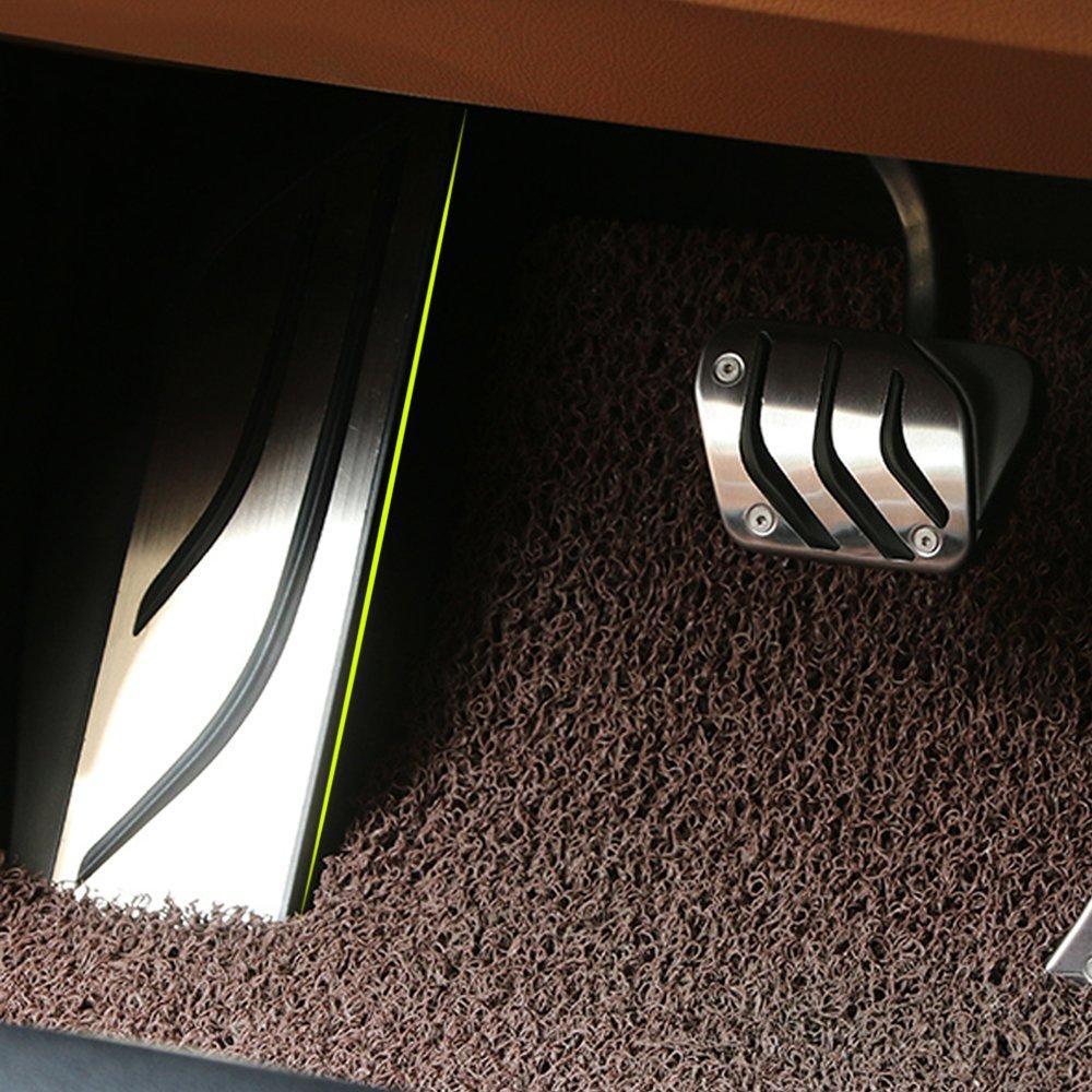 In acciaio INOX senza foratura e pedale poggiapiedi antiscivolo Pad sticker