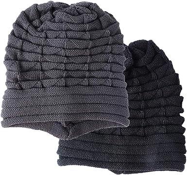 BUONDAC 2pcs Gorras Punto Unisex Hombre Mujer Gorros Sombreros ...