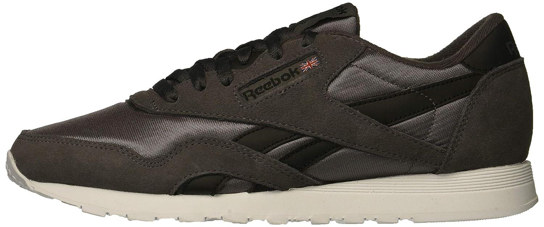 Reebok Men's Classic Nylon Sneaker, ash GreyBlackWhite, 7