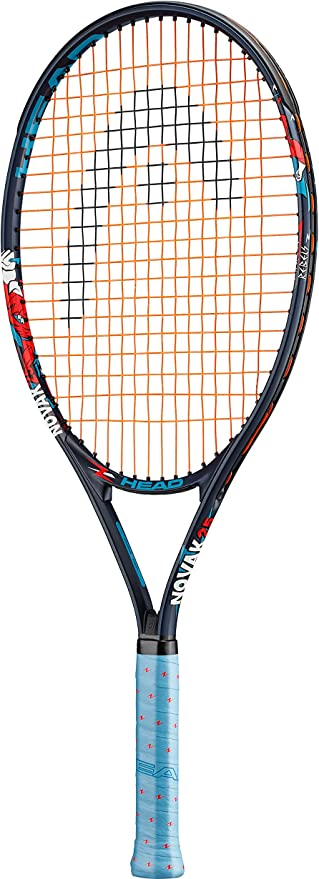 Head Novak 25 Raqueta de Tenis, Infantil, Azul, 63,50 cm: Amazon ...