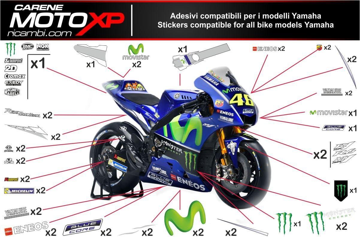 Pegatinas Adhesivos Motos Racing Yamaha R1 2015 2016 2017 MT17 ...