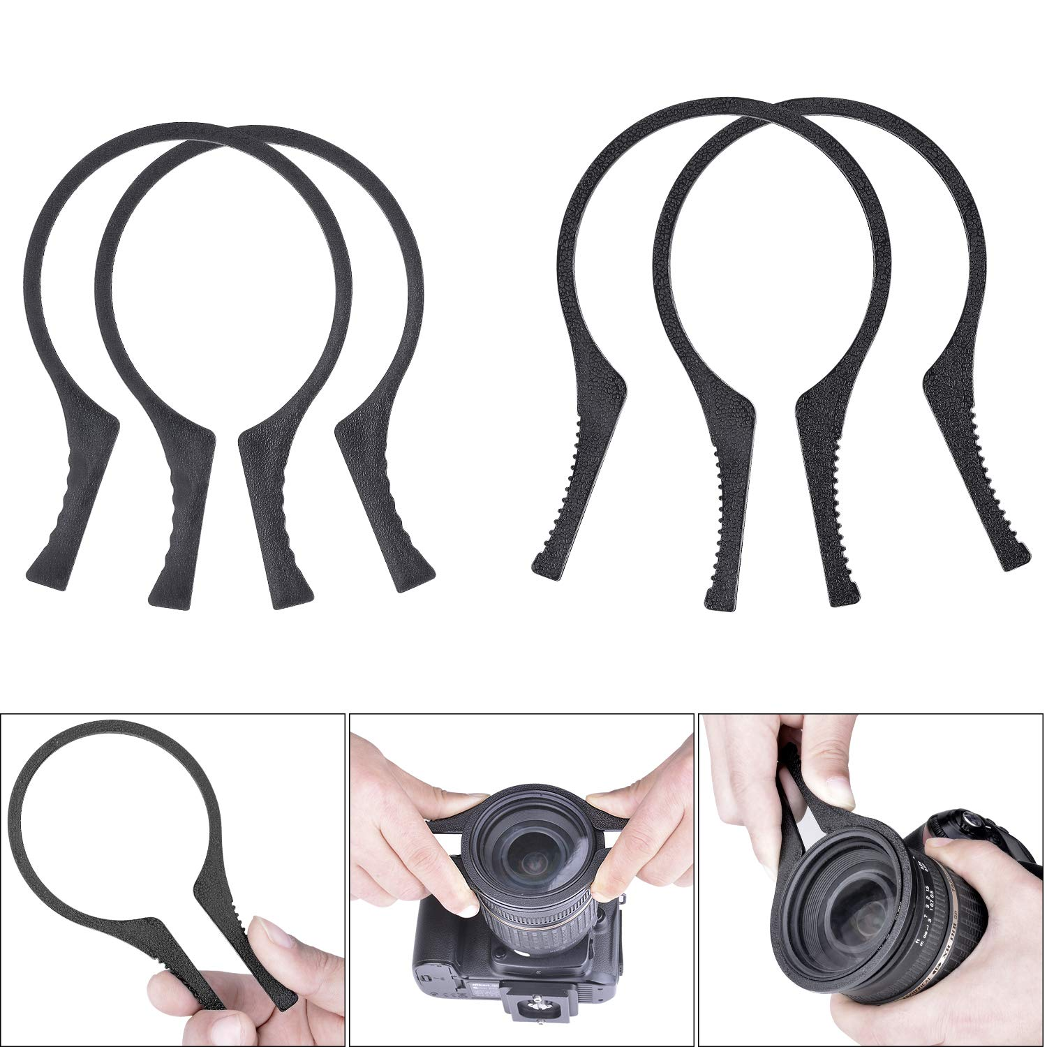 2 Packs Camera Lens Filter Wrench Kit,ABS Filter Removal Wrench Tool Set,Fit 37mm-46mm Lens Thread for Canon Nikon Sony Fujifilm Olympus Panasonic and Other Camera