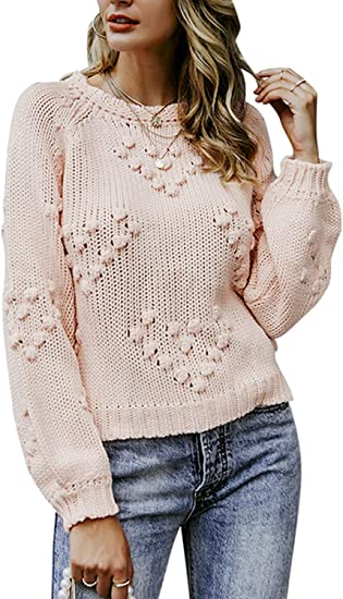 2019 Winter//Autumn Loose Knitted Long Sleeve Floral Print Stretchy Women Sweater
