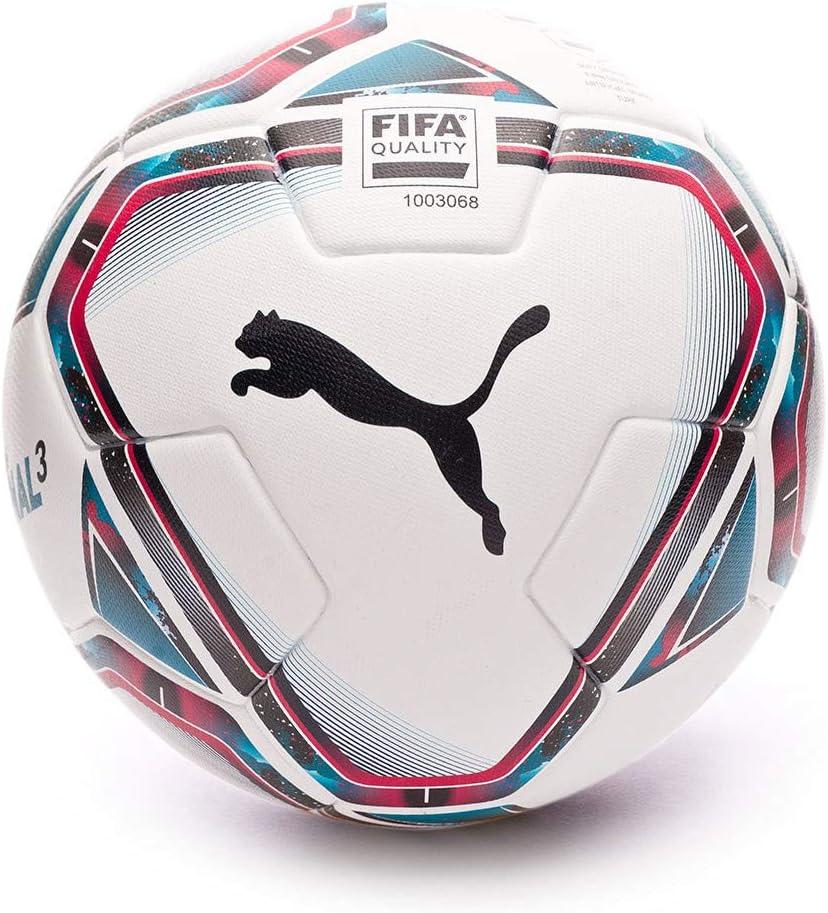 PUMA Team Final 21.3 FIFA Quality Ball, Balón, White-Rose Red-Ocean Depths Black